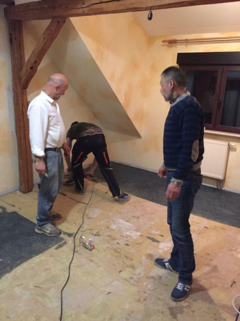 Bödenrenovierung im Hotel Drei Lilien Werbach