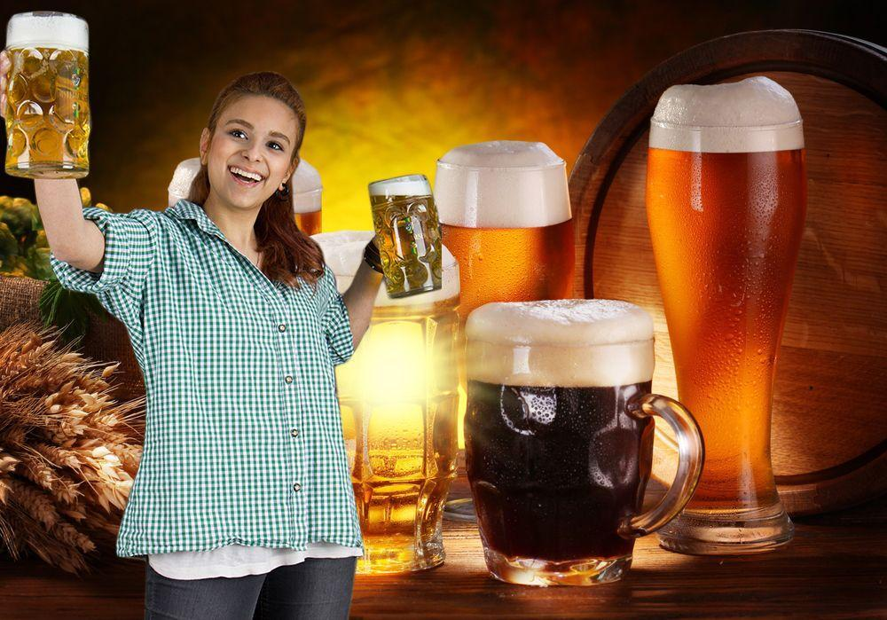 Bierprobe und Bierparade im Hotel in Franken